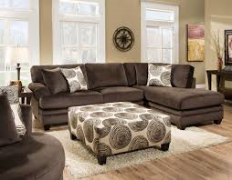 American Wholesale Furniture 8642 Sectional Only - Groovy Chocolate