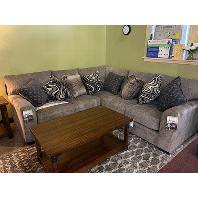Kingston Pewter 3-piece Sectional