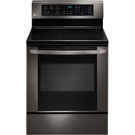 LG Smooth Top Electric Range with True Convection-Black Stainless