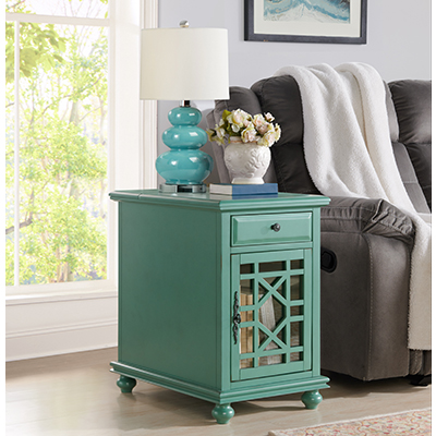 Elegant Teal End Table