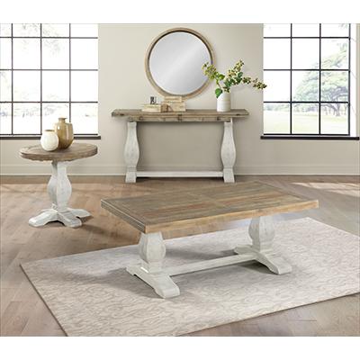 Martin Svensson Home Napa White Satin Table Collection