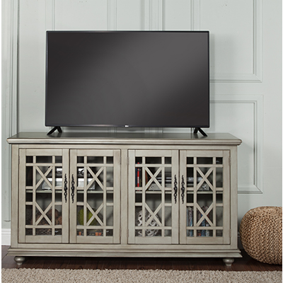Elegant Antique Silver TV Stand
