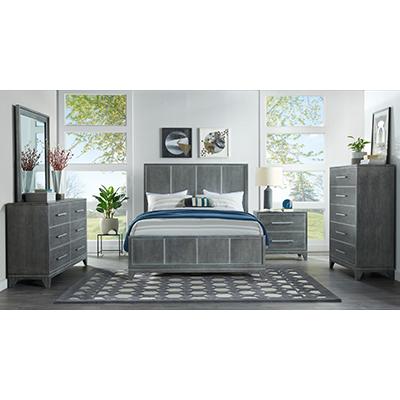 Memphis Slate Grey Queen Bed