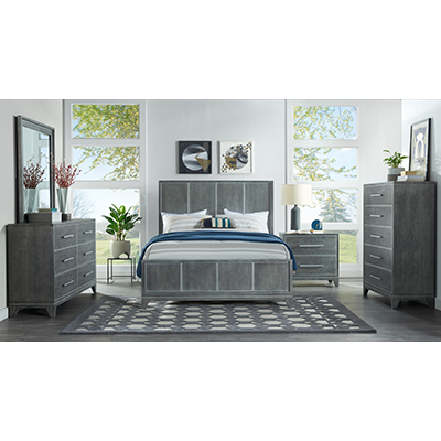 Memphis Slate Grey King Bed