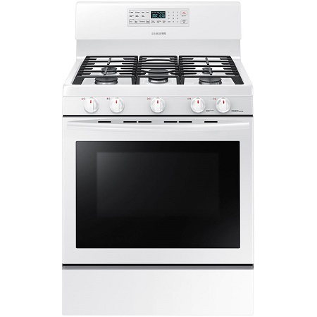 Samsung 5.8 cu. ft. Gas Range with Self-Clean Oven-White