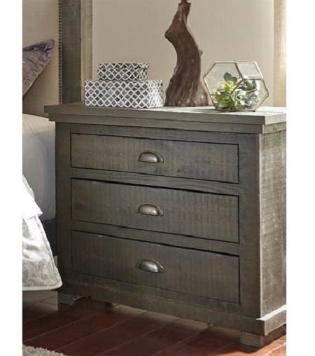 Progressive Furniture Willow Distressed Gray Nightstand