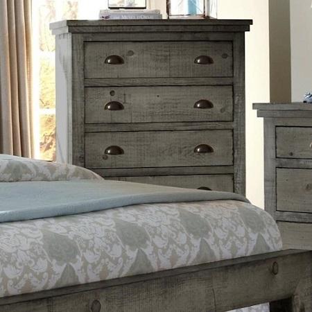 Progressive Furniture Willow Distressed Gray Chest