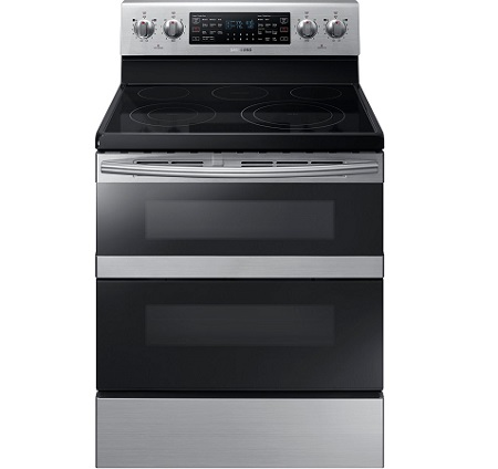 Samsung Double Oven Range in Stainless Steel