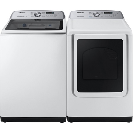 Samsung Top Load Washer and Steam Dryer