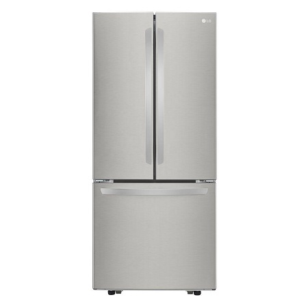 LG 30 in. Wide 22 cu. ft. French Door Refrigerator-Stainless Steel