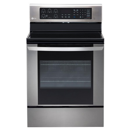 LG Smooth Top Electric Range-Stainless Steel