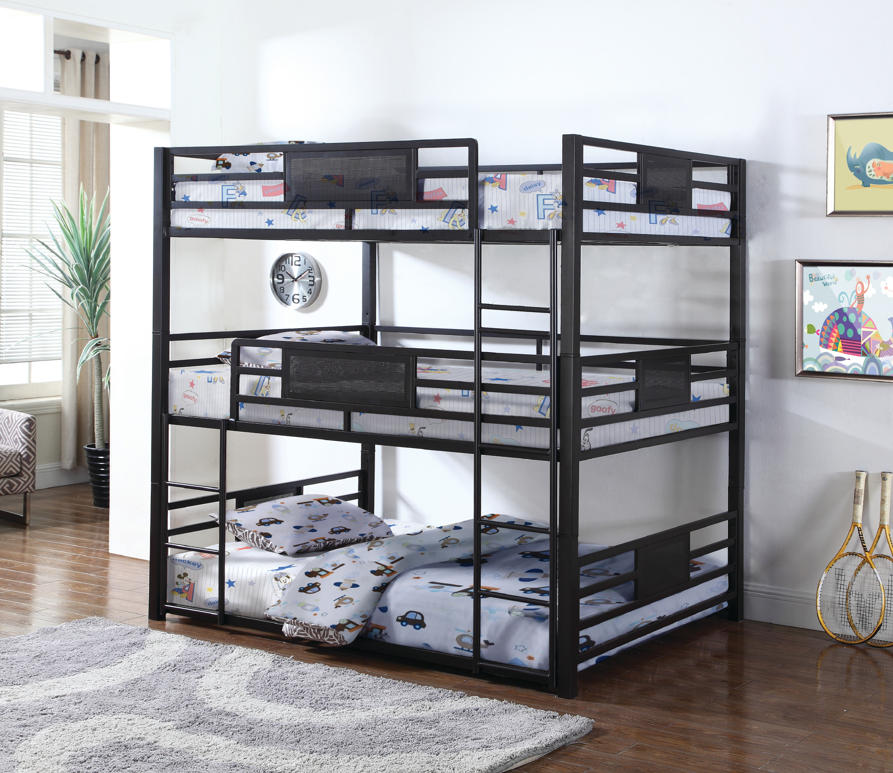 Rent Triple Twin Bunkbed Bedroom Youth Furniture Rental Rent 2 Own