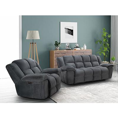 Vogue Alton Graphite Motion Sofa & Recliner