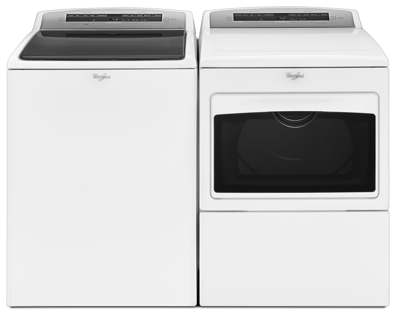 Whirlpool Cabrio 4.8 cu. ft. High-Efficiency Top Load Washer and 7.0 cu. ft. High-Efficiency Electric Dryer - White
